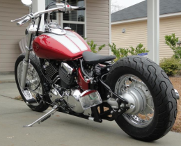 2007 yamaha v star 650 custom bobber motorcycle build by fastalon82. Black Bedroom Furniture Sets. Home Design Ideas