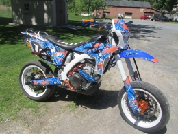 2013 yamaha wr450f stunt supermoto motorcycle build by. Black Bedroom Furniture Sets. Home Design Ideas