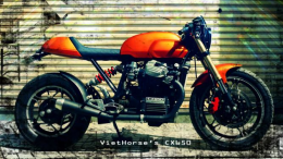 Honda CX650 Cafe Racer Motorcycle Build By VietHorse